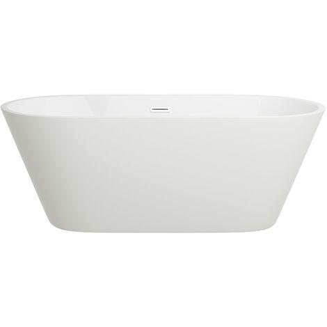 Freistehende Design Badewanne LUGANO - aus Acryl in Weiß