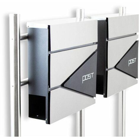 Freistehender Design Doppel Standbriefkasten 16778