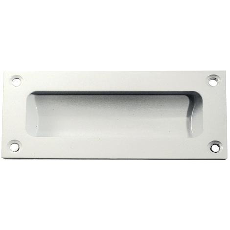 Frelan Flush Pull - White - 75mm x 40mm