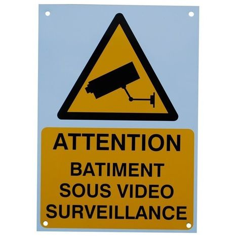 French A4 External CCTV Warning Sign [002-0501]