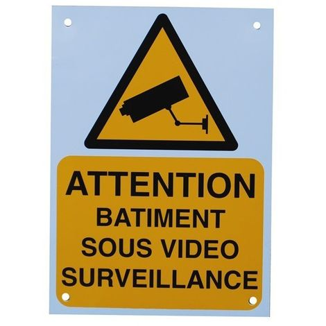 French A5 External CCTV Warning Sign [002-0531]
