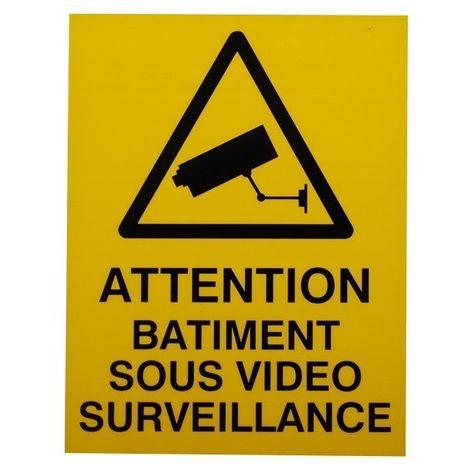 French CCTV Warning Window Sticker [002-0541]