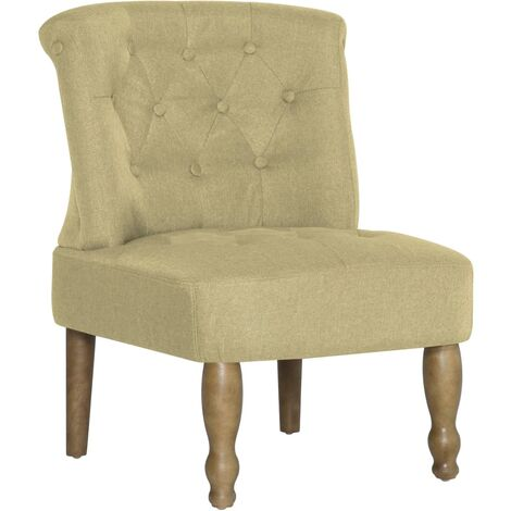 French Chair Green Fabric
