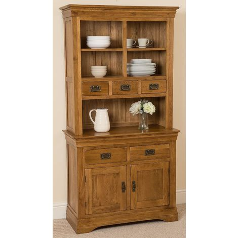 French Chateau Rustic Solid Oak Small Dresser