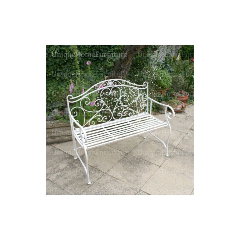 Pleasing French Garden Bench Antique Vintage Loveseat Outdoor Metal Patio 2 Seater Seat Beatyapartments Chair Design Images Beatyapartmentscom