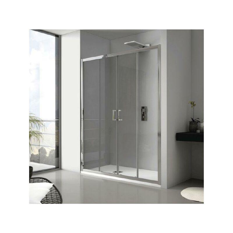 Frontal de ducha 2 Fijos + 2 Puertas Correderas JAMESON SIN DECORADO 120 cm Sin lateral