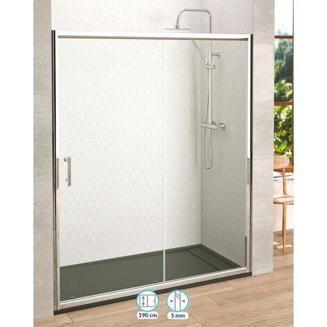Frente de ducha City corredera 1 puerta + 1 fijo   130 cm - Serigrafía