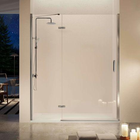 Frente de ducha NARDI, fijo + puerta abatible + perfil