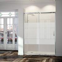 Frente de ducha TRIANA, puerta corredera - 152-160cm - Cristal Decorado