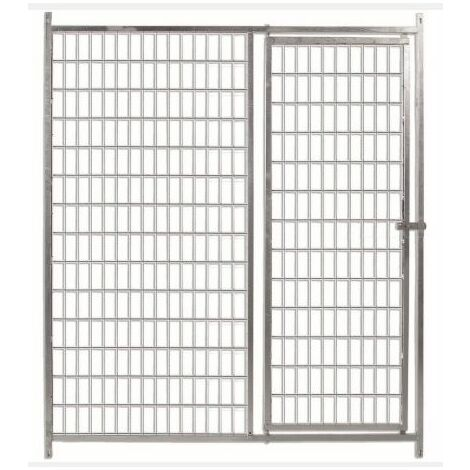 Frente para boxes ECO 150 con puerta -malla 5x10 cm