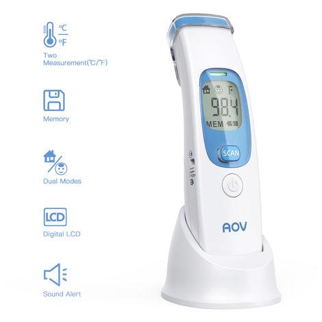 Frente termometro, termometro de mano de infrarrojos