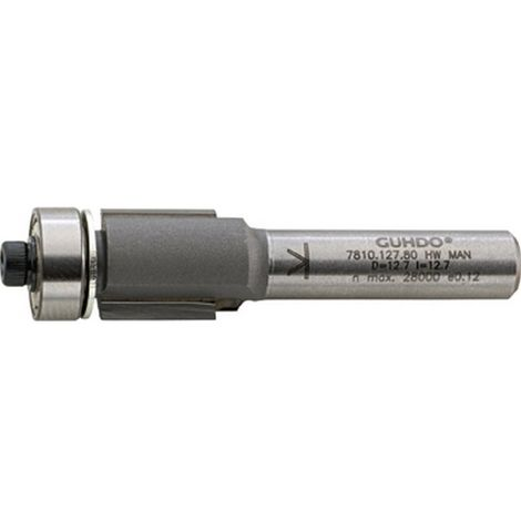 Fresa de estar nivelado, herramienta de madera, Ø : 12,7 mm, Largo útil 25,0 mm, Largo total 66 mm