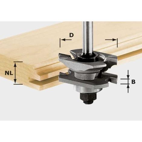 Fresa perfilada para ranurar HW, vástago 8 mm HW S8 D46 x D12-NT Festool