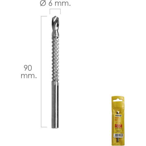 Fresa Rotativa Para Madera Espigada Ø 6 X 90 Mm. Para Taladro / Fresadora - NEOFERR..