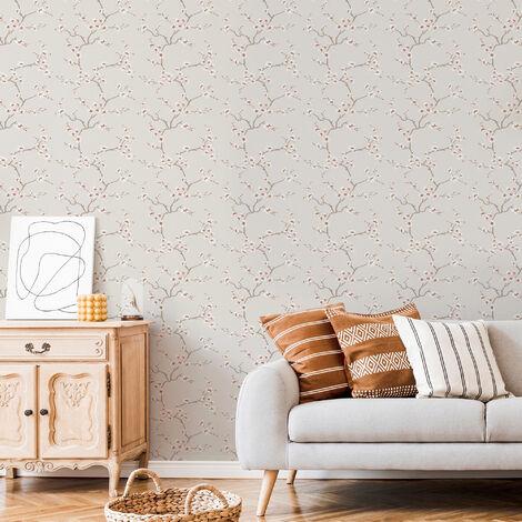 """main image of """"Fresco Burnt Orange Apple Blossom Wallpaper"""""""