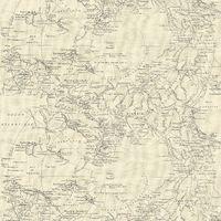 Fresco Great Value Vintage Map Cream Wallpaper