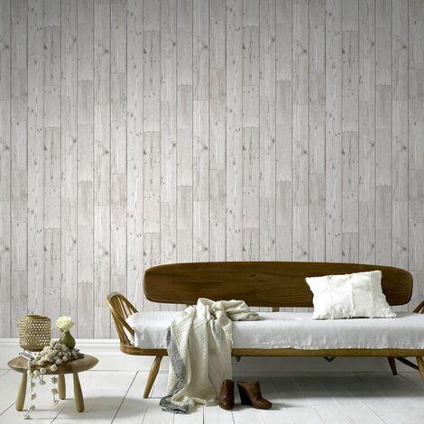 Fresco Great Value Wood Panel Plank Effect Wallpaper
