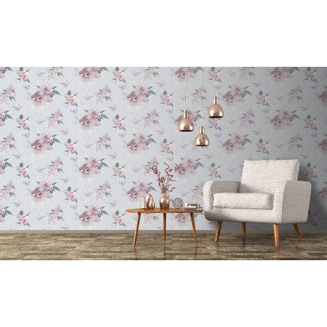 Fresco Pink Daphney Floral Wallpaper