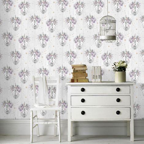 Fresco Sparkle Wallpaper, Unicorn
