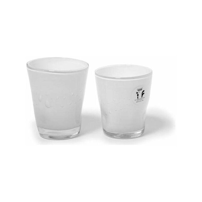 Image of Bicchieri 6 Pezzi Acqua Bianco Schiacciato - YEPPON