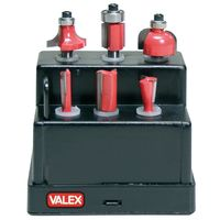 Frese legno Valex scanalatura codolo 6mm set punte fresatrice 6pz
