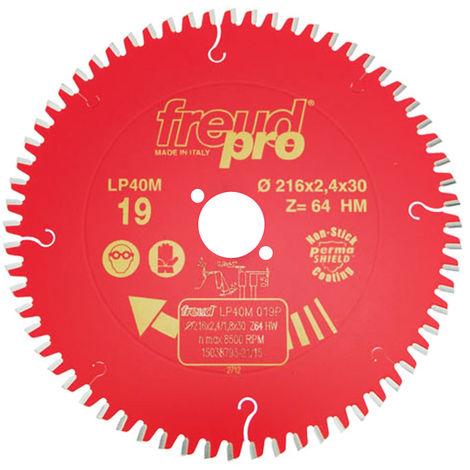 Freud 216mm x 30mm x 64T Cross Cut Circular Saw Blade F03FS03718