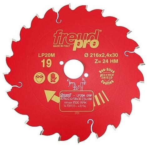 FREUD PRO LP20M 019 TCT Circular Saw Blade - 216mm x 30mm - 24T
