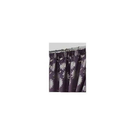 "Freya Floral Pencil Pleat Curtains 66 X 72"" Aubergiene"