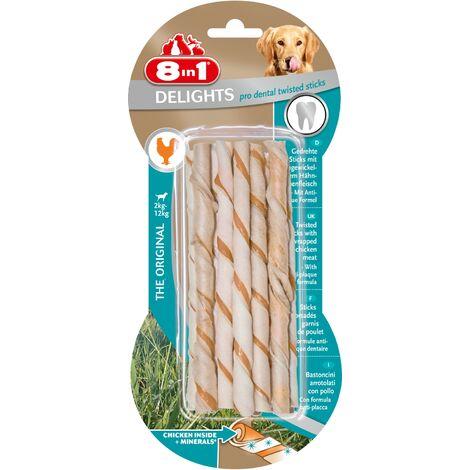 """Friandises 8 in 1 """"Delight Dental Sticks"""" torsadées"""