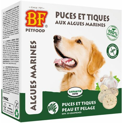 """Friandises """"puces et tiques"""" aux algues marines Biofood"""