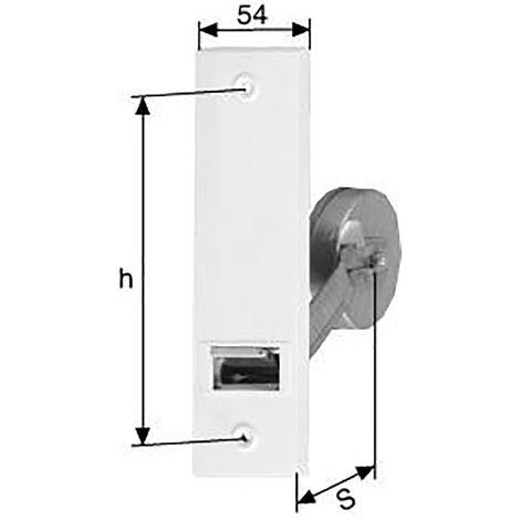 FRIDAVO PARO Gurtwickler 110110 verz. weiße Deckplatte