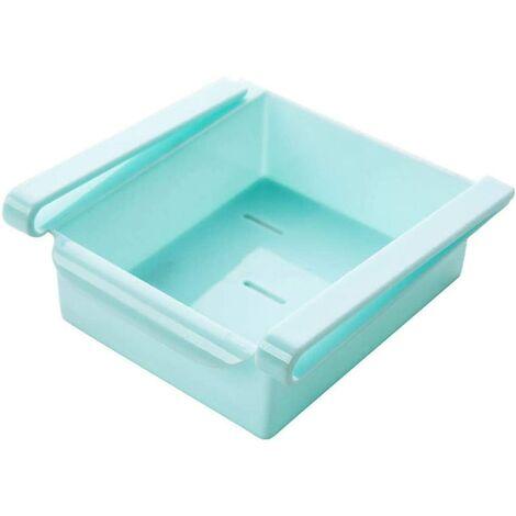 Fridge Drawer Shelf, Organizer, Storage Shelf, Food Containers, Kitchen Storage, Organizational Accessories, Polypropylene, Blue, One Size