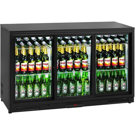 Frigo Boisson Mini Frigo Réfrigérateur Bouteilles Gastro Porte Vitrée 323L 2–10C