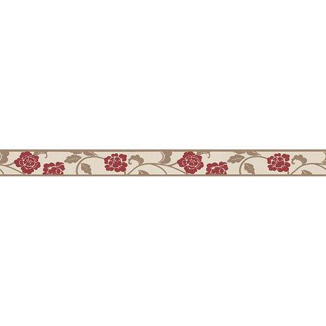 Frise papier peint 282019 Only Borders 9 - Papier peint motif Beige/Crème Marron Rouge - 5,00 x 0,05 m