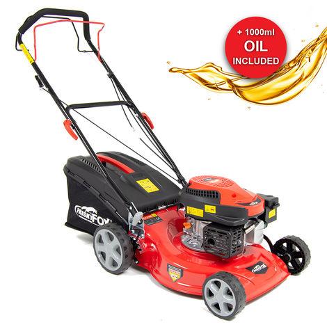 "Frisky Fox 17"" 127cc 4-stroke Recoil Start Lawn Mower with 1L Oil"