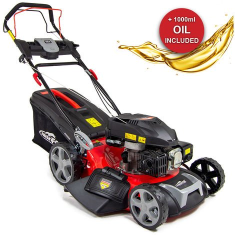 "Frisky Fox 21"" 196cc 4-stroke OHV Recoil Start Lawn Mower with Fuchs Engine Oil"