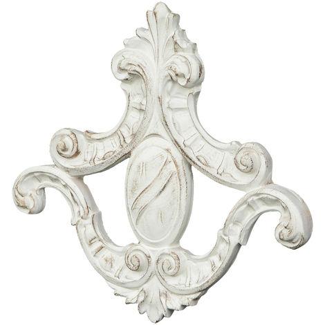 Friso de madera diseño mono acabado con efecto blanco envejecido talla L31XPR3,5XH29 cm Made in Italy