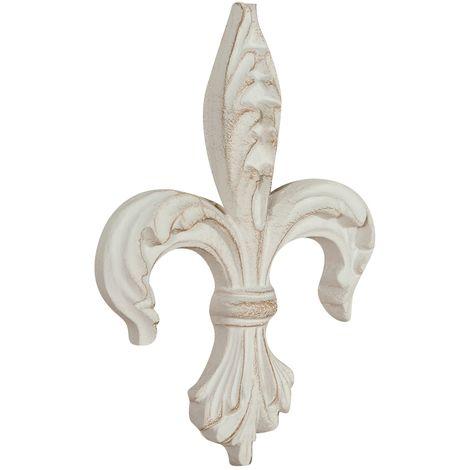 Friso de madera diseño mono acabado con efecto con efecto blanco envejecido talla L14xPR2,5xH19 cm Made in Italy