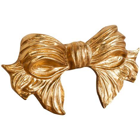Friso de madera diseño mono acabado hoja con efecto oro envejecido talla L22xPR3xH12 cm Made in Italy