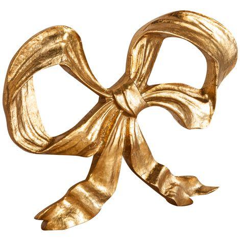 Friso de madera diseño mono acabado hoja con efecto oro envejecido talla L27xPR2,5xH20 cm Made in Italy