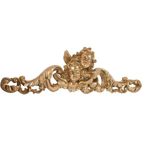 Friso decorativo acabado con efecto oro envejecido L50xPR5xH15 cm