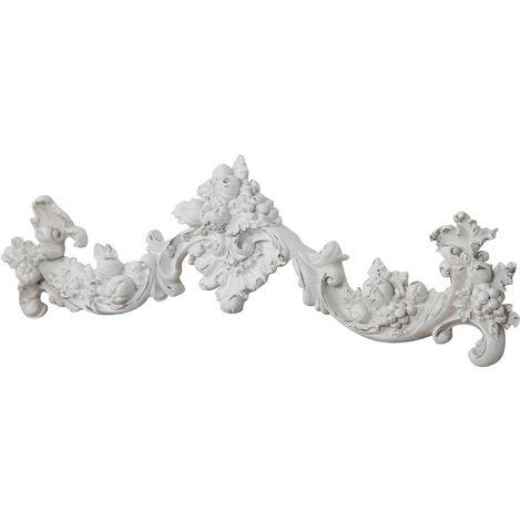 Friso decorativocon efecto blanco envejecido L42xPR3,5xH12 cm