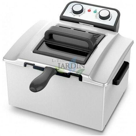 Friteuse inox 3000W 5 litres, idéale pour les restaurants