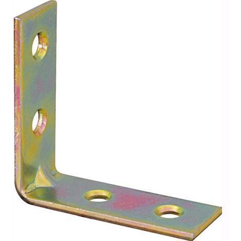 6x6cm larg 30 mm 50 pz Piastrina per Giunzione Angolare in Acciaio Zincato mis