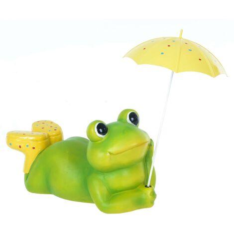 Frog Garden Decoration - Yellow