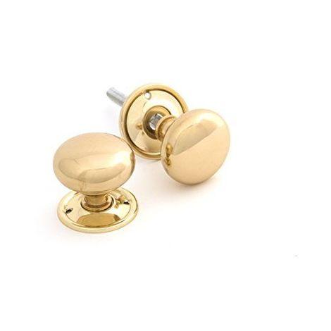 From the Anvil Set de boutons de porte Laiton poli Design champignon