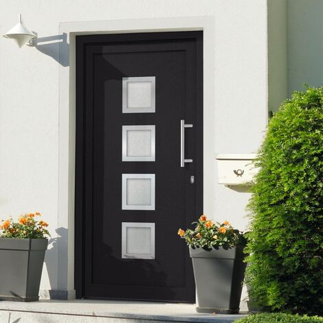 Front Entrance Door Anthracite 88x200 cm