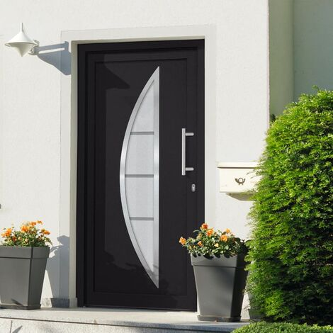 Front Entrance Door Anthracite 88x200 cm