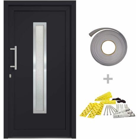 Front Entrance Door Anthracite 98x190 cm