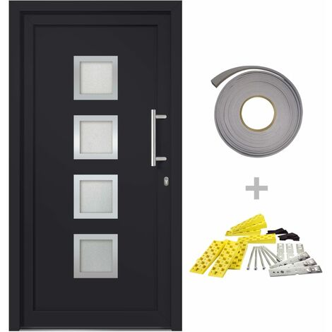 Front Entrance Door Anthracite 98x200 cm